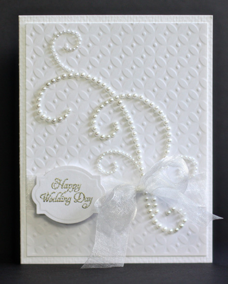 I Needed A Wedding Card So Did Get One Made During World Making Day This Fits The Caardvarks Clean Simple Challenge As Well
