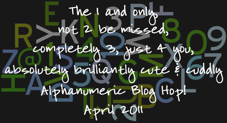 Alphanumeric hop badge