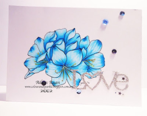 Blue copic flowers main